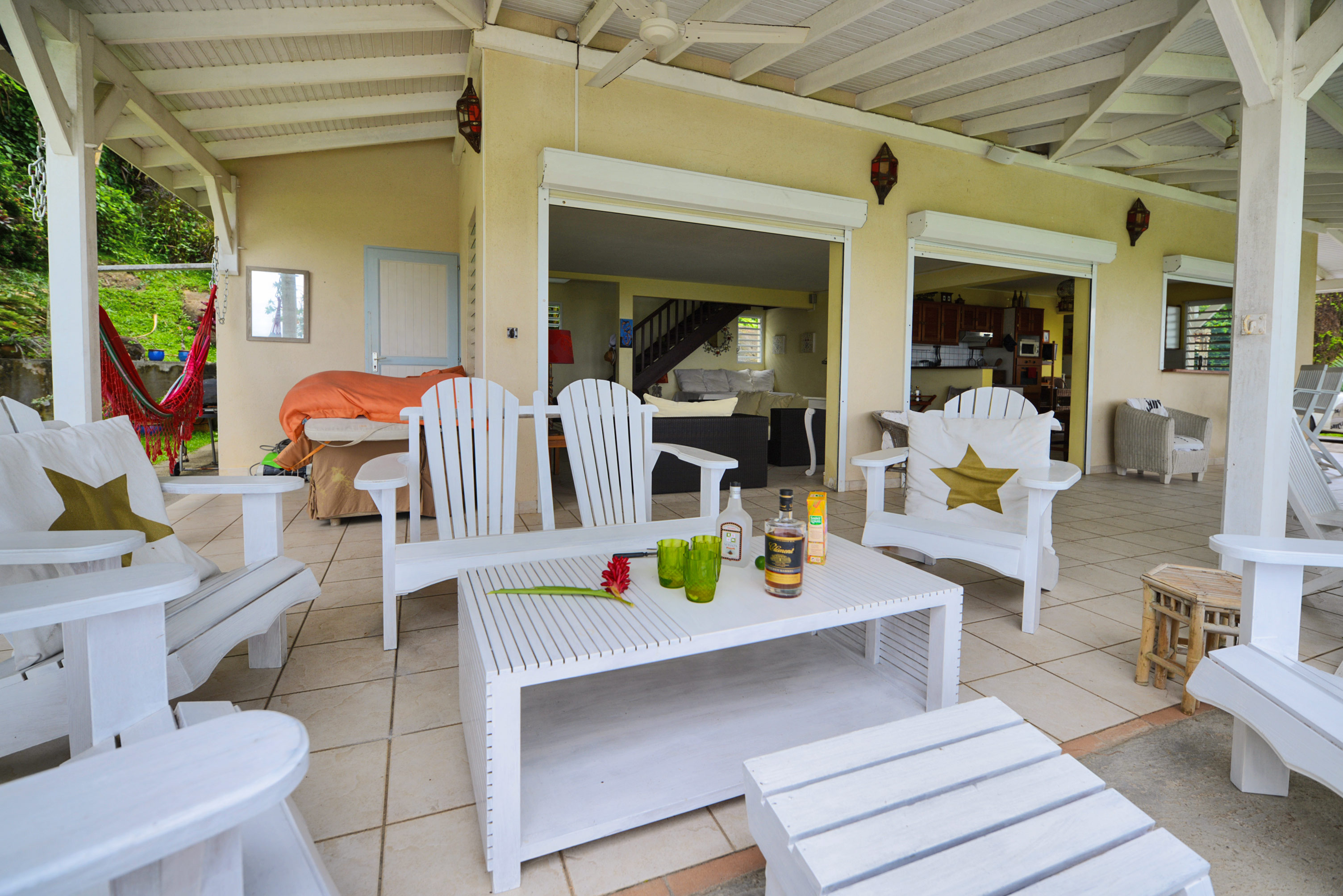 Le salon sur la terrasse martinique