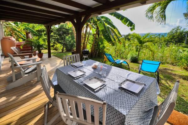 Sur la terrasse des hauts de l'Anse